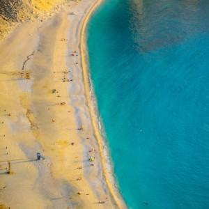 Kefalonia - Spiaggia di Myrtos in Giugno