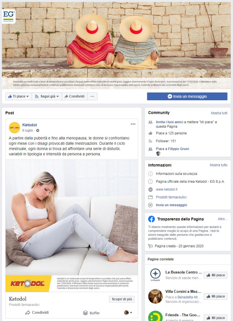 KETODOL - Pagina Facebook OTC